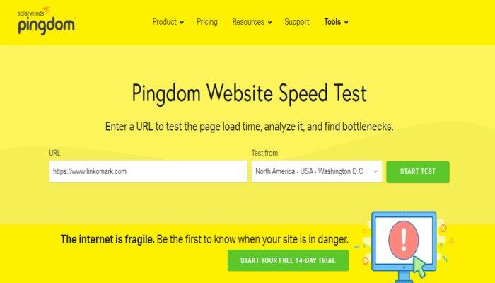 Pingdom - Website Speed Testing Tool